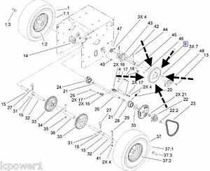 106 4480 Toro Snowthrower Friction Wheel Power Max 6000