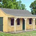 12 x 20 building cottage shed with porch plans 81220 ebay