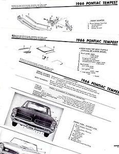 1966 PONTIAC TEMPEST LEMANS GTO CUSTOM MOTOR'S BODY PARTS