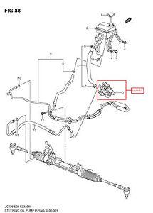 2007 2009 Suzuki XL7 Power Steering Pump Genuine 49100