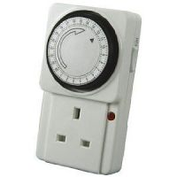 24 HOUR Mains Timer with LED For Lamps Lights Plug In | eBay