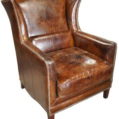Leather Cigar Chair Slipcovers For Wing Chairs 32 Quot Wide Club Arm Vintage Brown Italian