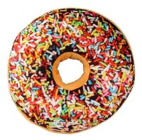 3D Chocolate Icing Sugar Donut Cushion Pillow Toy Seat Pad ...
