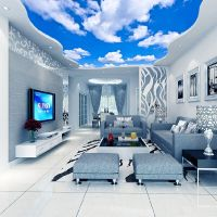 3D Wallpaper Blue Sky White Clouds Murals For The Living ...