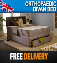 4FT SMALL 4FT6 DOUBLE ORTHOPAEDIC DIVAN BED +10 INCH ...