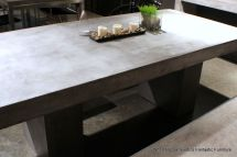 "83"" L Dining Table Desk Solid Concrete Cement Modern"