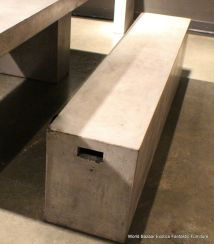 "71"" Long Bench Cement Solid Fiber Concrete Sealed Indoor"