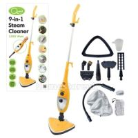 9 IN 1 STEAM MOP CLEANER WOOD TILE FLOOR CARPET BATH ...