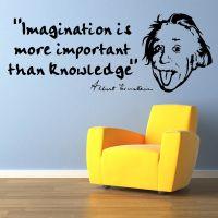 ALBERT EINSTEIN Imagination is VINYL WALL ART STICKER ...