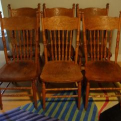 Press Back Chair Toddler Tables And Chairs Antique 6 Pressed Serpent Dragon Nice Orig