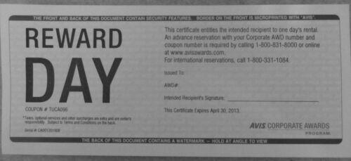 2013 rent certificate