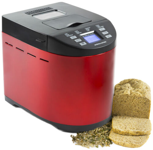 Andrew James Premium Red Bread Maker Automatic Nut