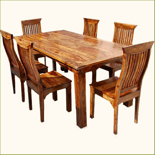 wood kitchen table sets 2017