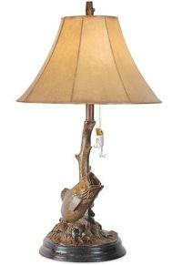 Bass Fish Table Lamp Fishing Lure Bronze Finish Light ...