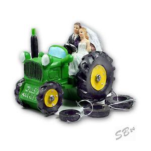 Brautpaar auf TraktorHochzeitspaar fr Torte und TischTorten und Tischdeko  eBay