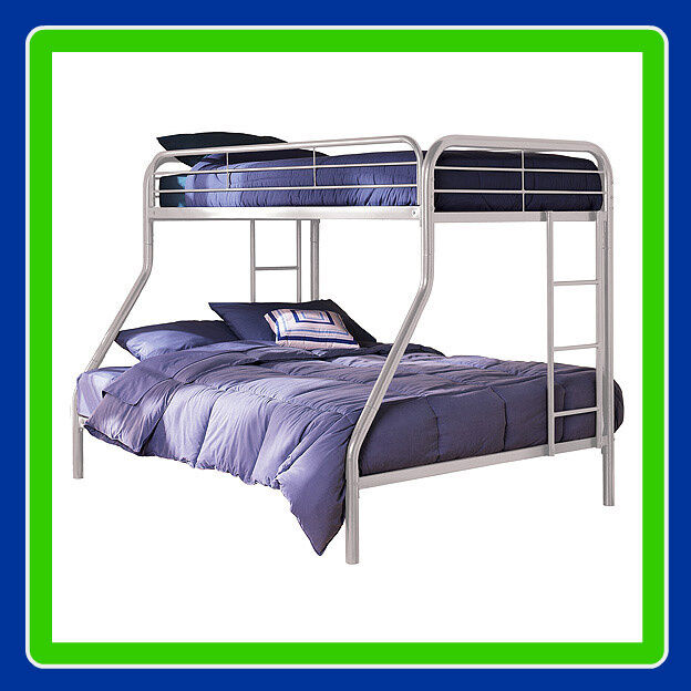 Twinoverfull Metal Bunk Bed  Sturdy Frame Bunkbeds 30