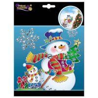Cute Christmas Party SNOWMAN Suncatcher Plastic Window ...