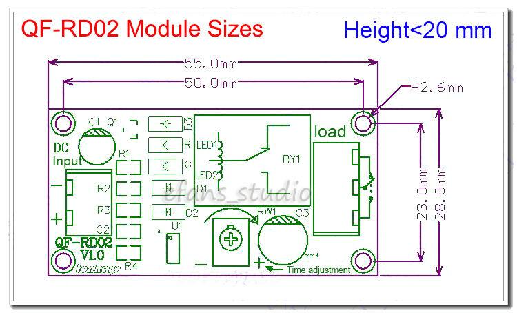 DC5V 12V Adjustable NE555 Delay Timer Time Relay Switch