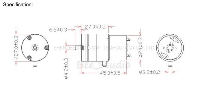 DC 6V 1.5L/Min Micro Vacuum Pump Monitor Breast Pump Mini