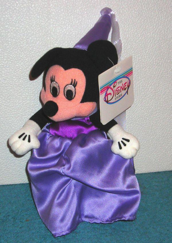 Disney Store Exclusive Minnie Mouse Purple Princess 8 Bean