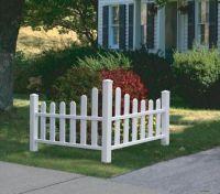 Decorative Vinyl Outdoor Country Corner White Picket Fence ...