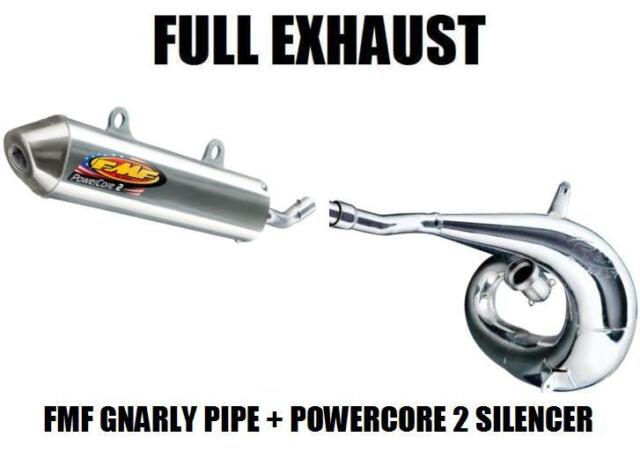 FMF GNARLY PIPE EXHAUST AND POWERCORE 2 SILENCER 04-10 KTM