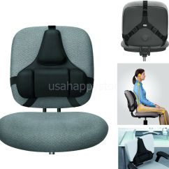 Chair Back Support Banana Rocking Fellowes Black Lumbar Memory Foam Health Care