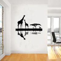 Giraffe African Wall Art Sticker, Vinyl WA062, dinning ...