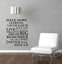 HAVE HOPE Removable Vinyl Wall Sticker Decal Mural Room