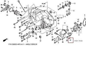 Honda Foreman Angle Sensor, Honda, Free Engine Image For