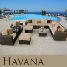 Havana Modern Outdoor Wicker Patio 11 Piece Furniture Set