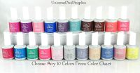 IBD Gel Nail Polish Choose Any 10 Colors From Color Chart ...