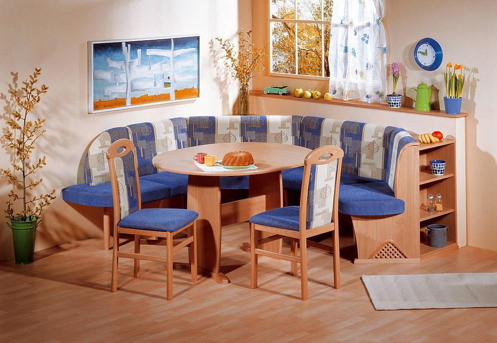 Modern beech wood dining set kitchen booth breakfast nook