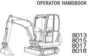 JCB Mini Digger Excavator 8013 8015 8107 8018 Operator