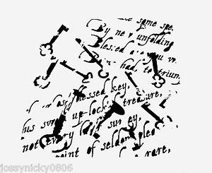 Key Stencil Antique Keys Words Word Stencils Big Template