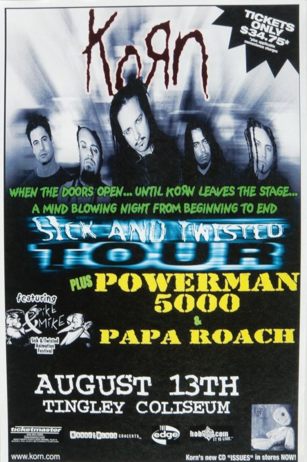 Korn Powerman 5000 Papa Roach 2000 Denver Concert Tour