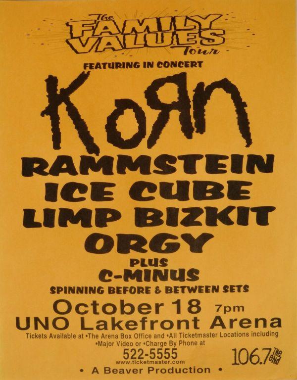 Korn Rammstein Ice Cube Limp Bizkit 2006 Orleans