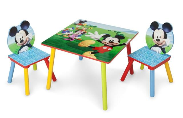 toddler chair and table for eating white covers walmart kids set mickey mouse wood children play eat furniture