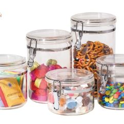 Clear Kitchen Canisters Design India Pictures Food Storage Canister Acrylic Set Of 5 Jars