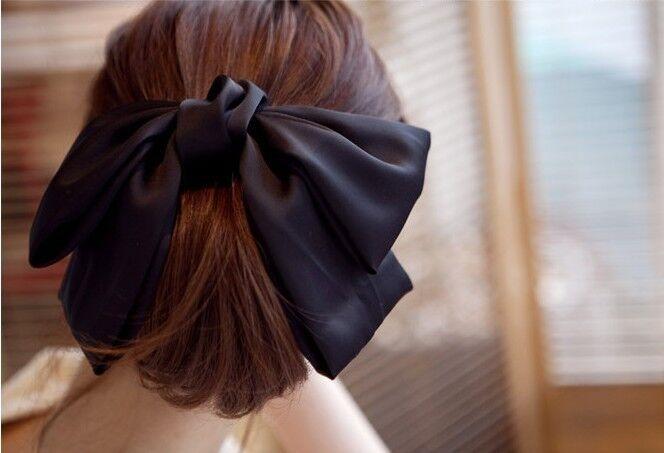 fashion korean women black satin