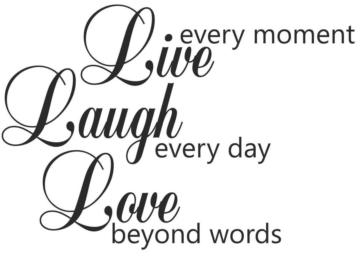 Live Laugh Love Quotes Decal Sticker Vinyl Wall Art Home