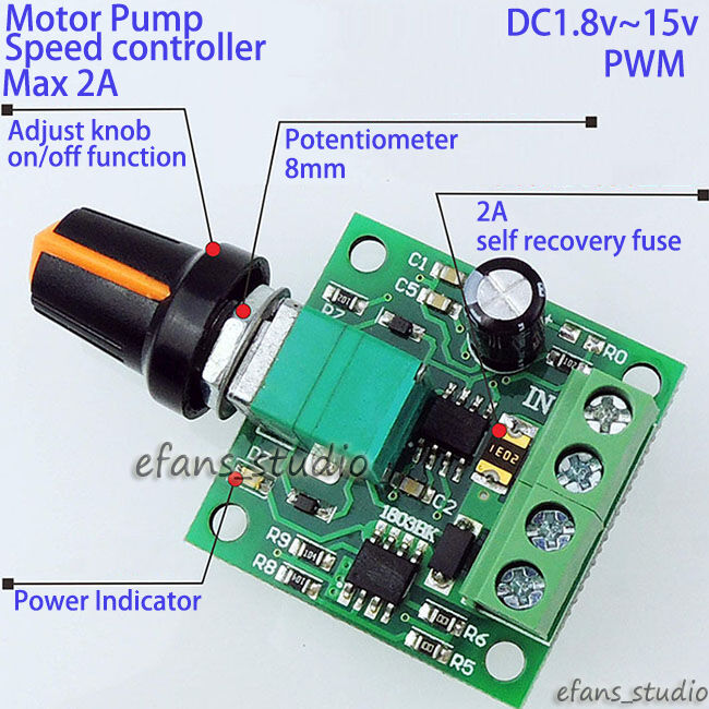 Miniature Low Rate Motor Speed Control