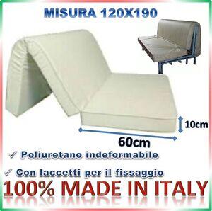 MATERASSO PER DIVANO LETTO PRONTO LETTO 120X190 POLIURETANO 10CM  eBay