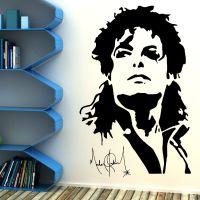 MICHAEL JACKSON Vinyl Wall art sticker decal mural music ...