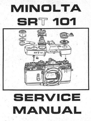 MINOLTA SRT 101 MANUALE RIPARAZIONE SU CD CAMERA SERVICE