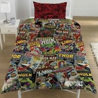 Marvel Comics Single Duvet Cover Bed Set POLYCOTTON ...