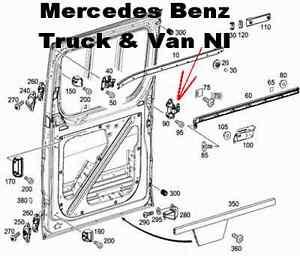 Mercedes sprinter sliding door parts