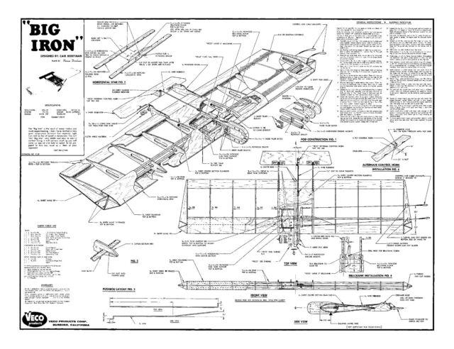 Model Airplane Plans (UC): BIG IRON 38½