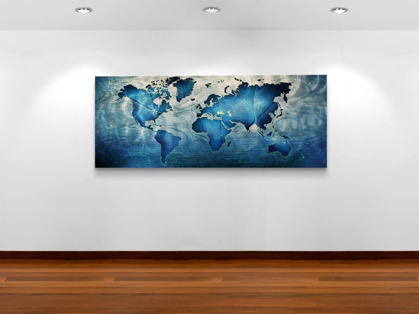 Modern Map Wall Art Contemporary Metal Abstract WOW Factor