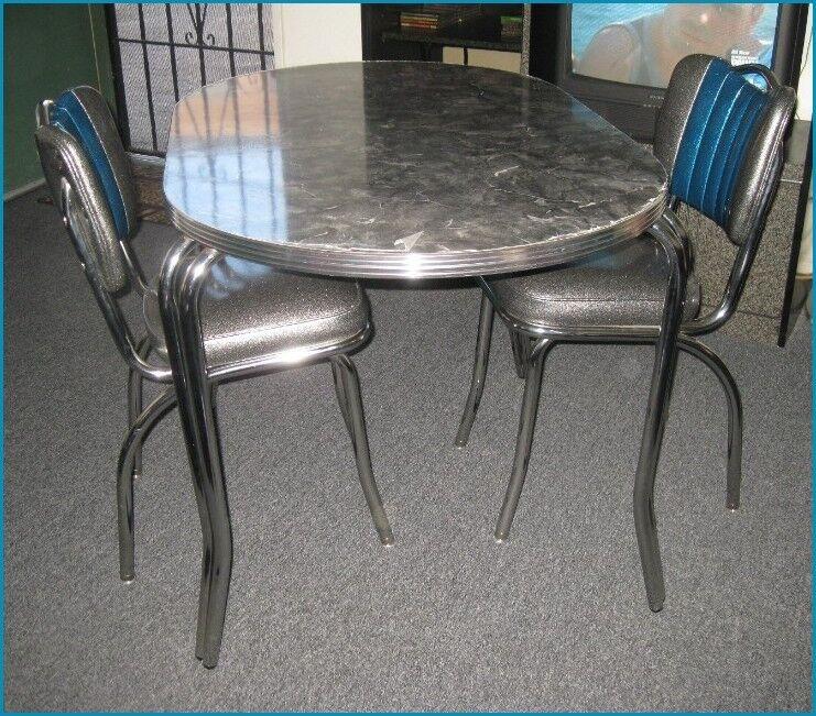 New 50's Retro Diner Chromeformica Dining Dinette Set